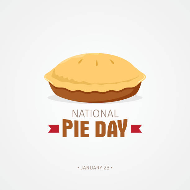 national pie day - pie stock illustrations, clip art, cartoons, & icons