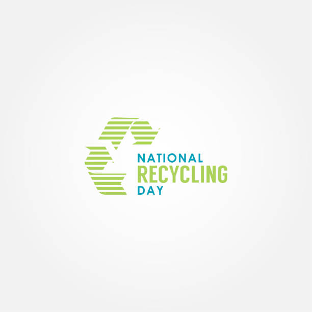 National Recycling Day Vector Design Template vector art illustration