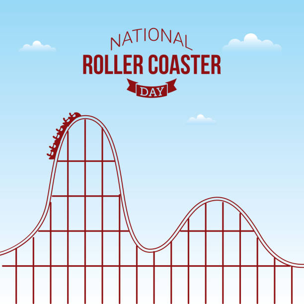 national roller coaster day - roller coaster stock illustrations