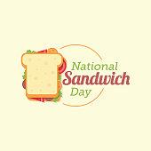 National Sandwich Day Vector Illustration