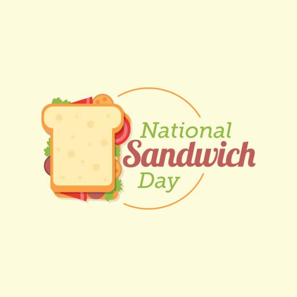illustrazioni stock, clip art, cartoni animati e icone di tendenza di national sandwich day - panino