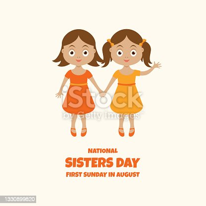 istock National Sisters Day vector 1330899820
