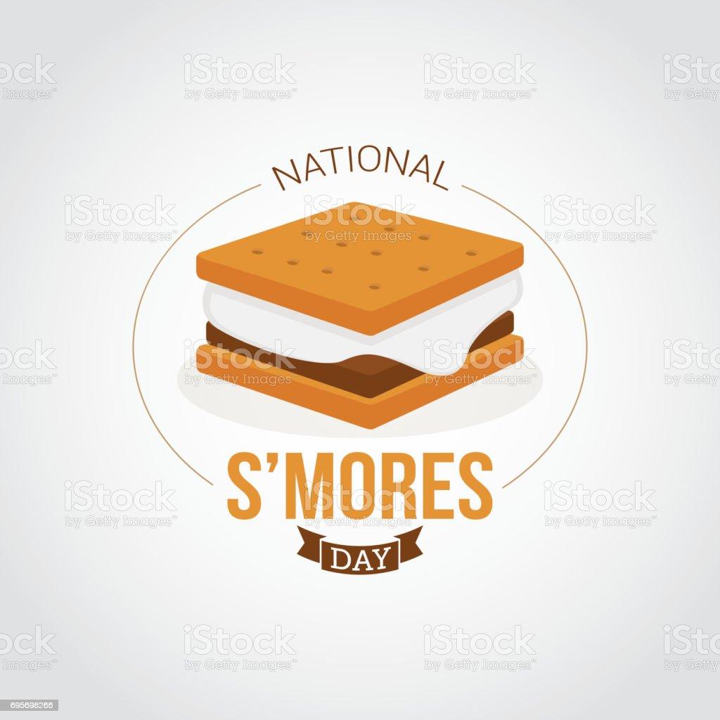 National S'mores Day vector art illustration