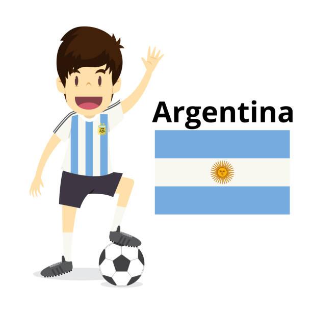 jugador de fútbol nacional - ilustración de arte vectorial