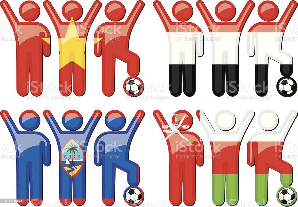 National Soccer Team Icons royalty-free stock vector art