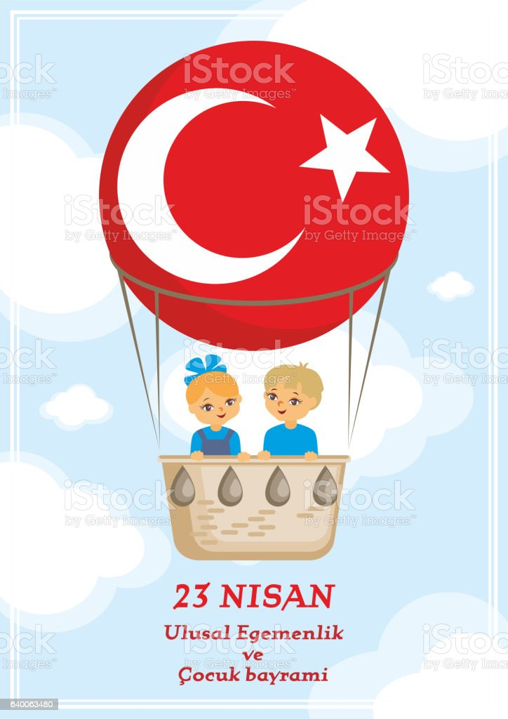 National Sovereignty and Childrens Day vector art illustration