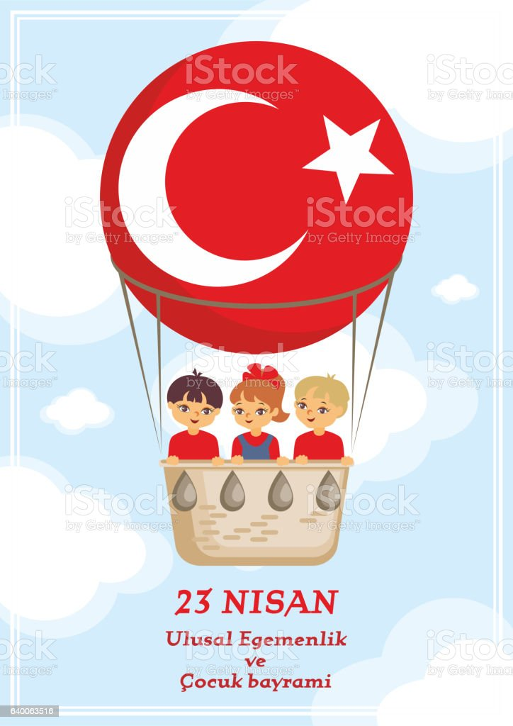 National Sovereignty day vector art illustration