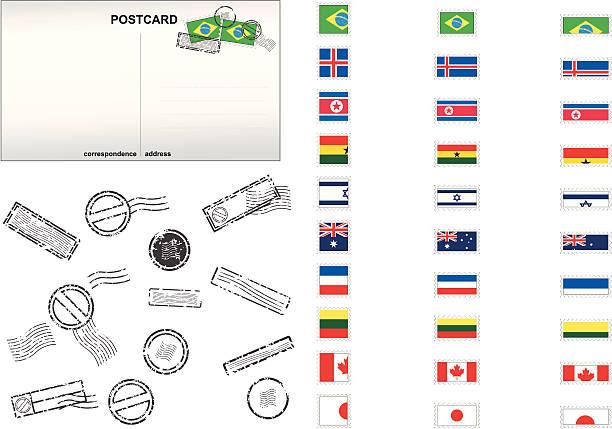 National Stamp Series vector art illustration