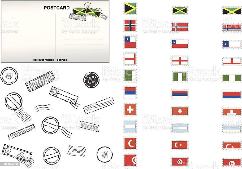 National Stamps Series royalty-free stock vector art