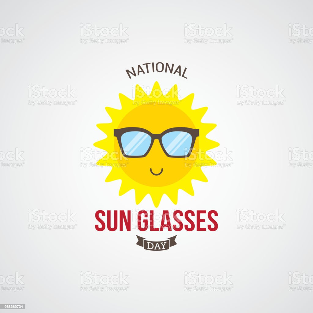 46b917684a9 National Sun Glasses Day Vector Illustration royalty-free national sun  glasses day vector illustration stock