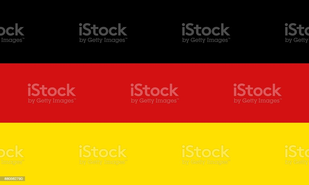 National symbol of Germany flag vector art illustration