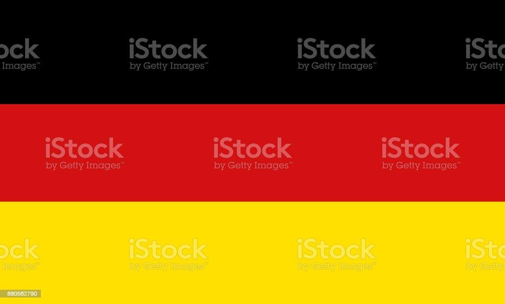 Símbolo nacional de la bandera de Alemania - ilustración de arte vectorial