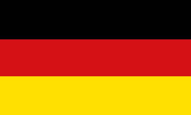 National symbol of Germany flag vector art illustration