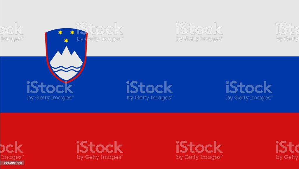 National symbol of Slovenia flag vector art illustration