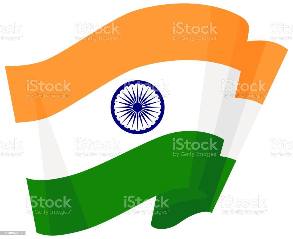 Bandera verde blanco y naranja