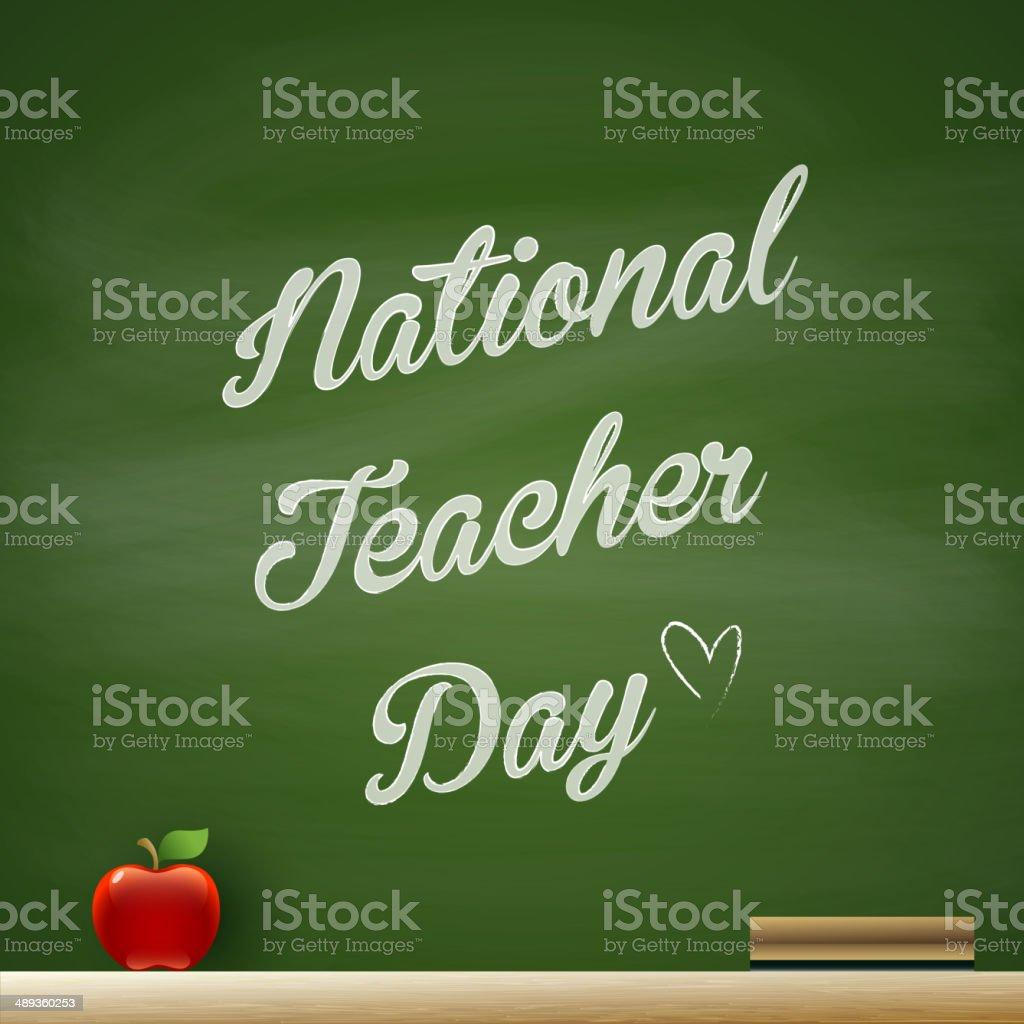 National Teacher Day vector art illustration