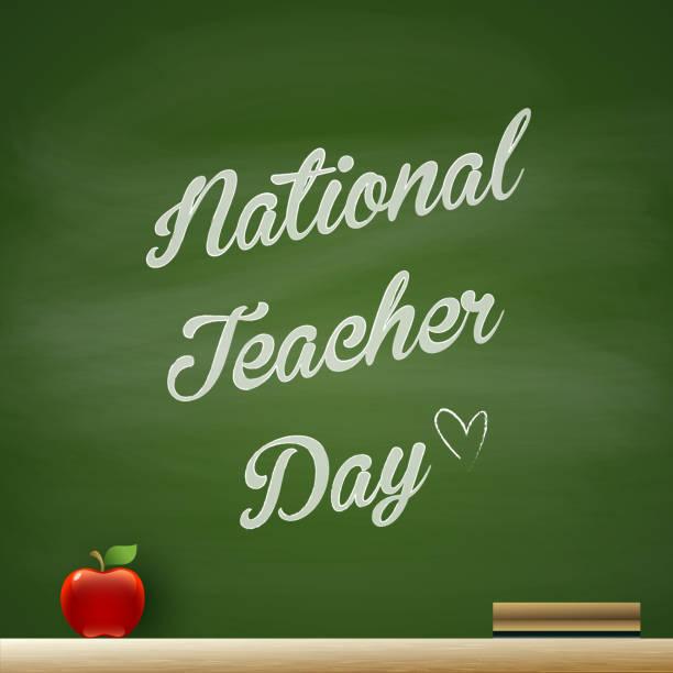 National Teacher Day vector eps10 illustration thank you teacher stock illustrations