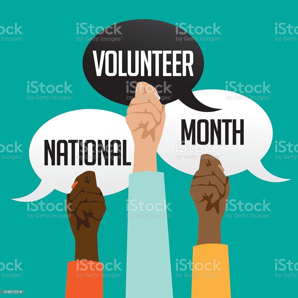 National volunteer month design. vector art illustration