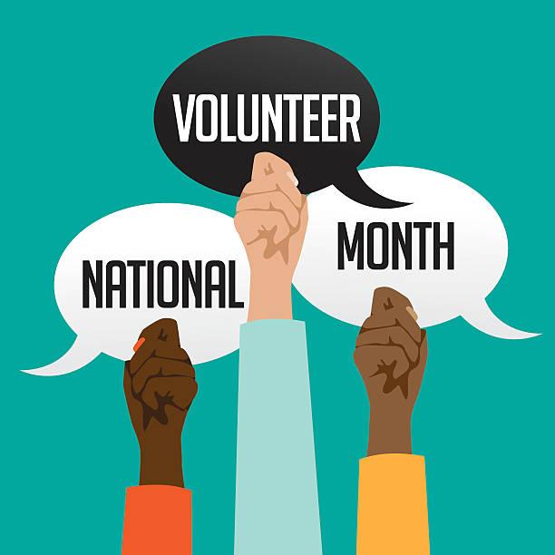 national volunteer month design. - 國家名勝 幅插畫檔、美工圖案、卡通及圖標