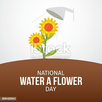 national water a flower day vector illustration stock