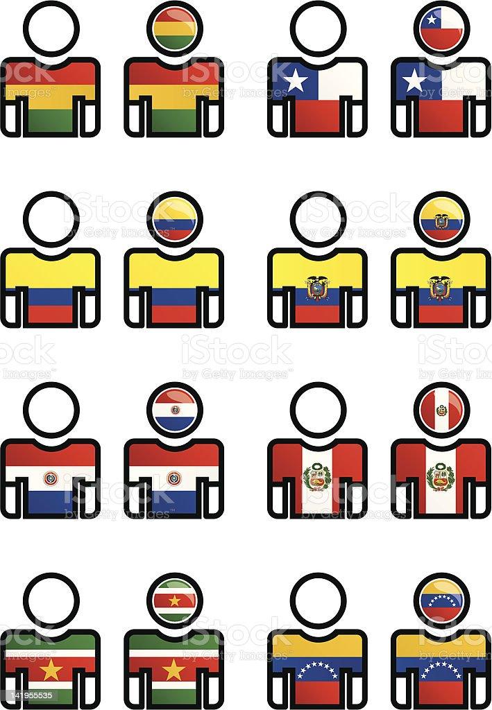 Nacionalidade, língua, Esportes-botão - ilustração de arte em vetor