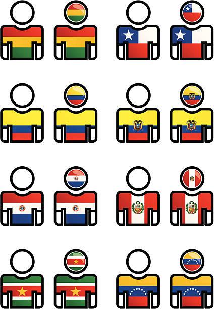 Nacionalidad, idioma, deportes de botón - ilustración de arte vectorial