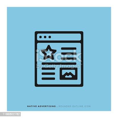 istock Native Advertising Icon 1166802782
