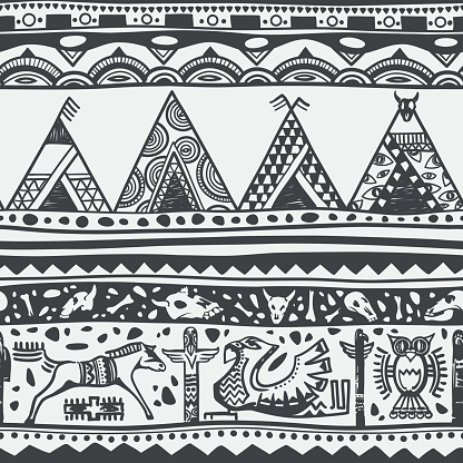 Native Americal Freehand Pattern