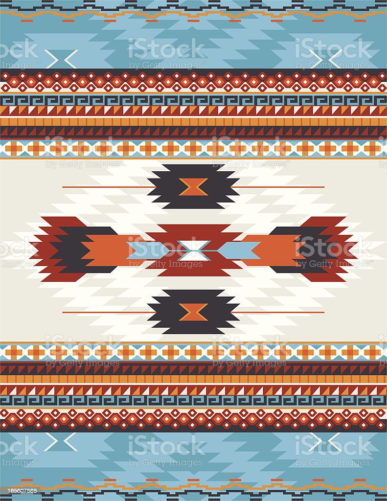 Native American, Aztec, Mayan Pattern, RUG vector art illustration