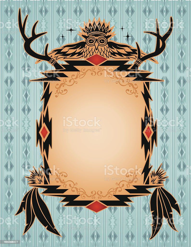 Native American, Aztec, Mian Pattern, Frame royalty-free stock vector art