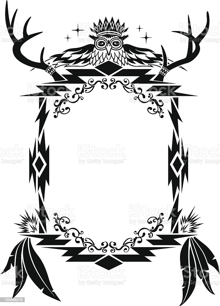 native american aztec mian pattern frame stock vector art more rh istockphoto com