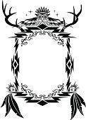 Native American, Aztec, Mian Pattern, Frame