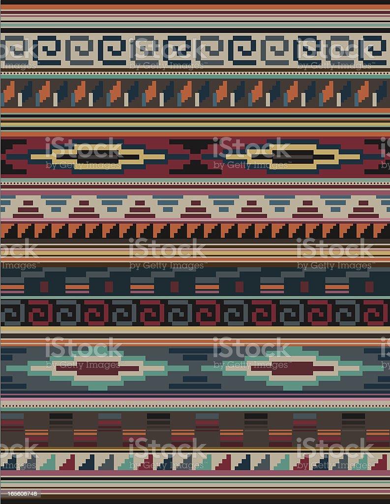 Indianer Aztec Mian Muster Teppich Blockhaften Stock Vektor Art Und