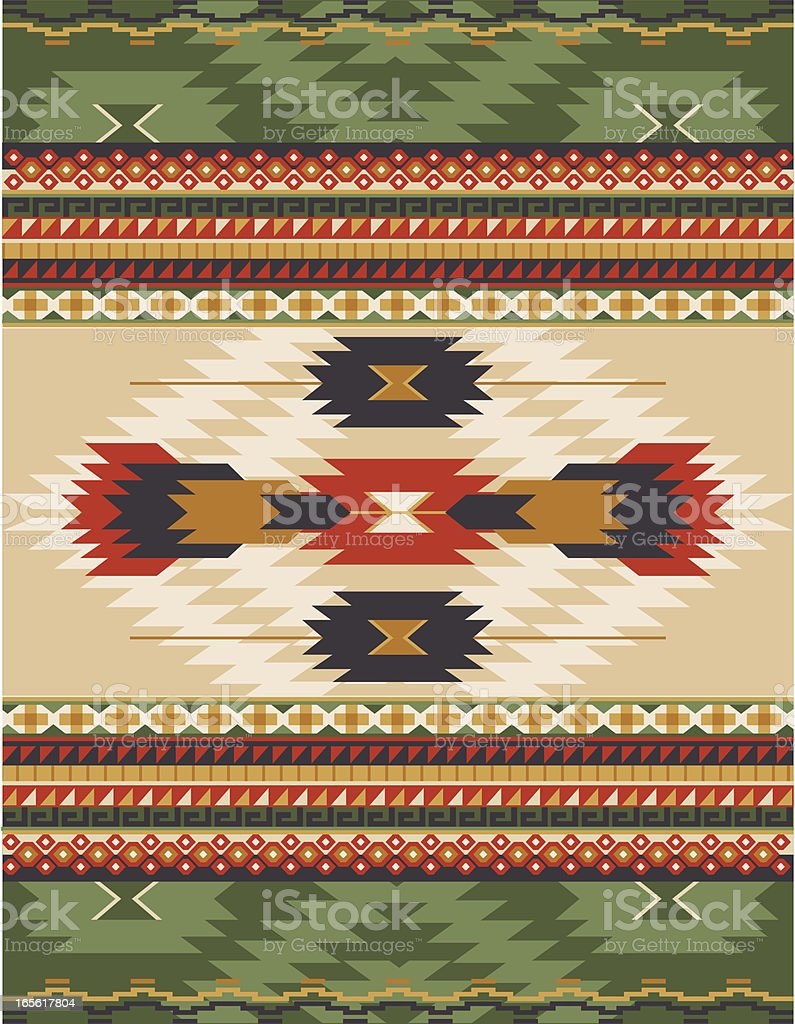 Native American, Aztec, Mian Pattern, RUG vector art illustration
