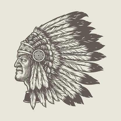 native american chief head