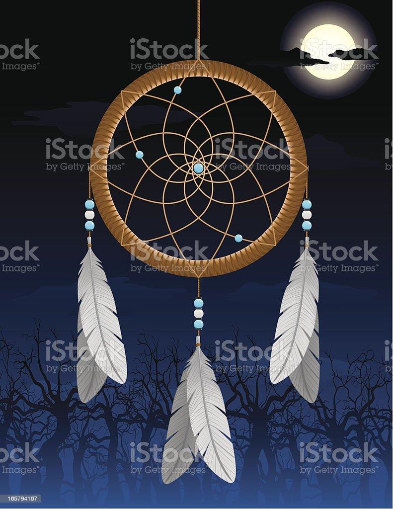 Native American Dream Catcher royalty-free stock vector art
