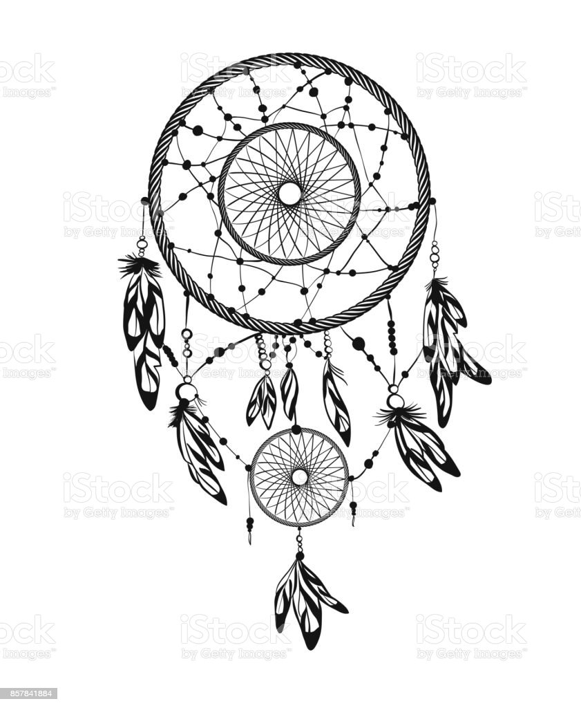 Ilustración de Atrapasueños De Indios Americanos y más Vectores ...