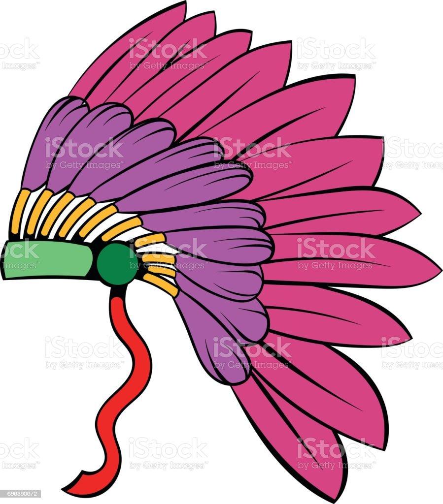 Vetores De Desenhos Animados De Icone De Cocar Indigena Pena E