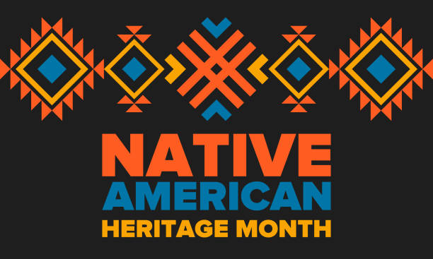 ilustrações de stock, clip art, desenhos animados e ícones de native american heritage month in november. american indian culture. celebrate annual in united states. tradition pattern. poster, card, banner and background. vector ornament, illustration - tradição