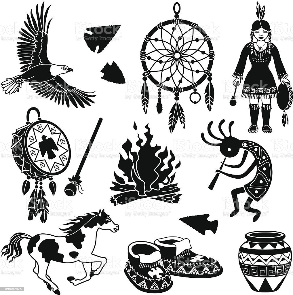 Native American Artifacts Coloring Pages