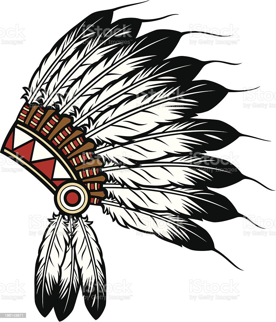native american indian chief headdress royalty-free native american indian chief headdress stock vector art & more images of chief - leader
