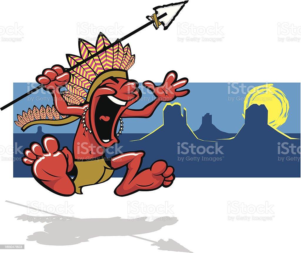 Native American Indian Mascot royalty-free stock vector art