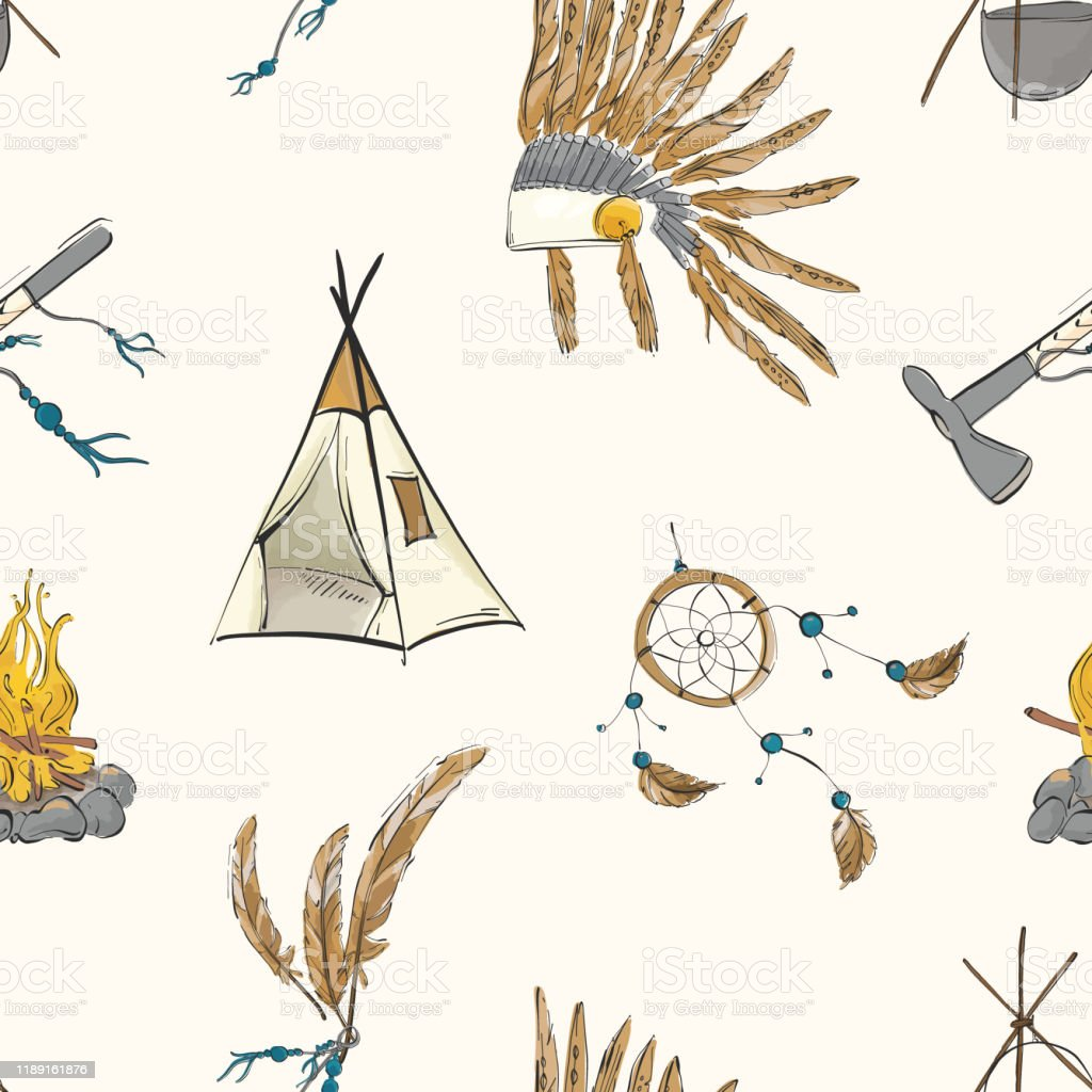 Kids Wall Decor Dreamcatcher Arrows Teepee Boho Tribal Nursery Print