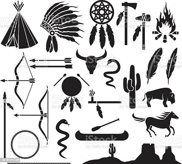 Native american indians icons set vector id619741246?b=1&k=6&m=619741246&s=612x612&h=vf7kqydqzlowbj5ulitne3cg6t8xv yoxewlxpnsftc=