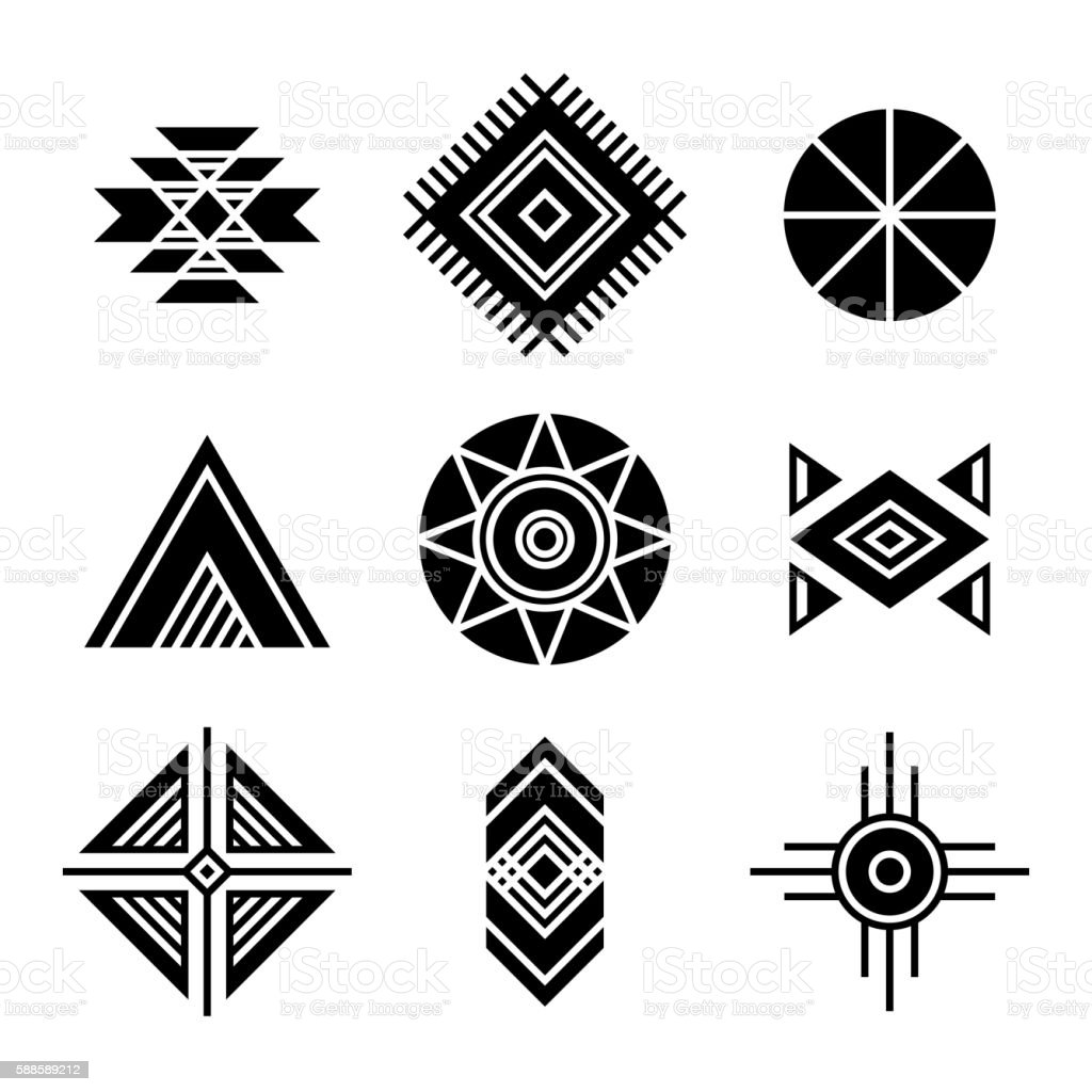 native american indians tribal symbols stock vector art more rh istockphoto com native american vector free native american vector free download