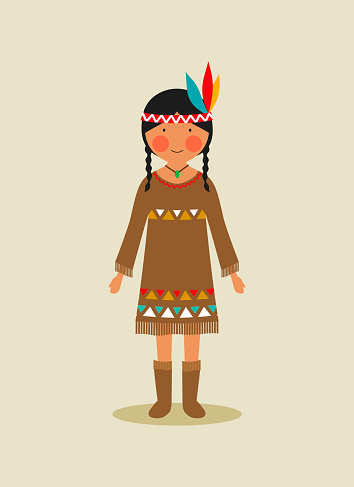 Native American national costume for women