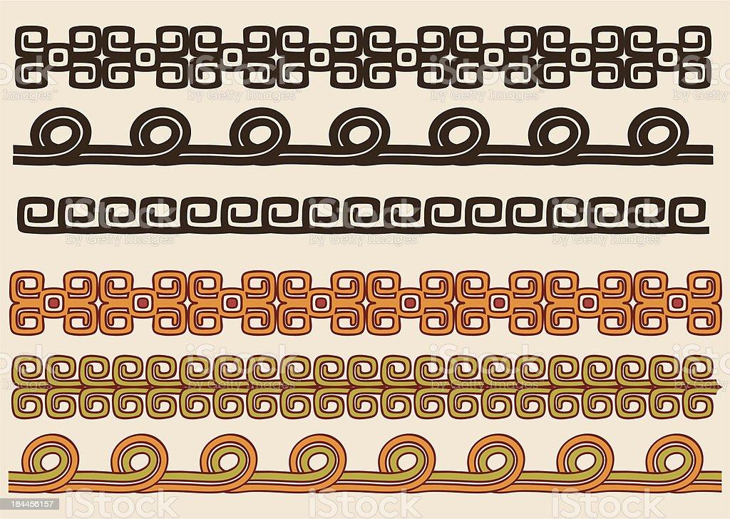 indianische muster grenze set stock vektor art und mehr