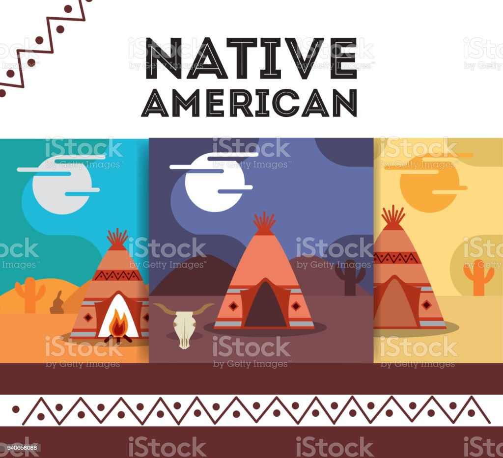 Native American People Cartoon Stock Vector Art & More Images of ...