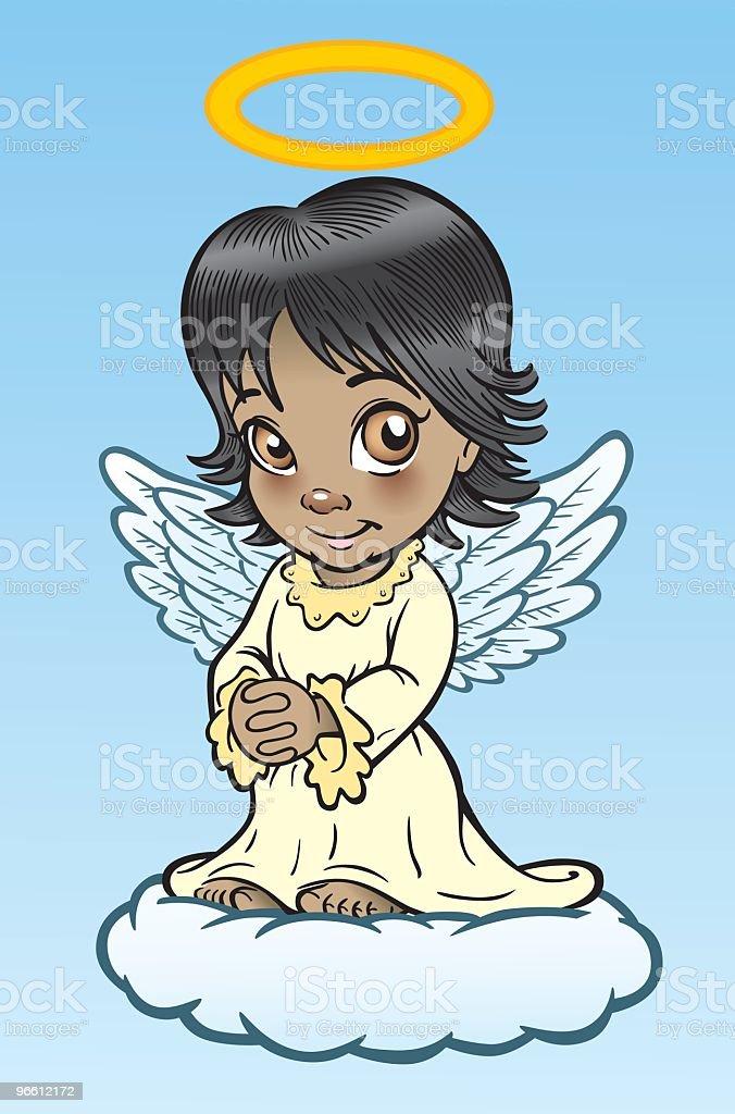 Native Or Hispanic Angel - Royaltyfri Andlighet vektorgrafik