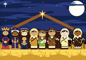 Nativity Characters in Barn